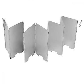 Pare-brise, 9 plaques pare-brise en aluminium pour barbecue pique-nique équipement de camping