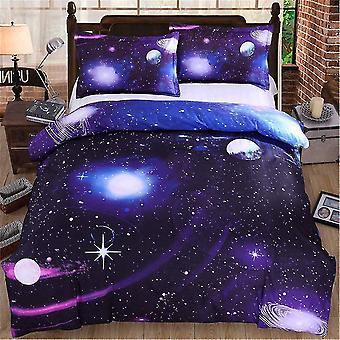 Quilts Comforters Galaxy Duvet Cover Set 3 Pieces Reversible Sky Universe Moon Printed Bedding Quilt