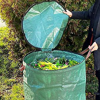 300L Large Capacity Garden Bag Reusable Leaf Sack Trash Can Foldable Garden Garbage Waste Collection Container Storage Bag