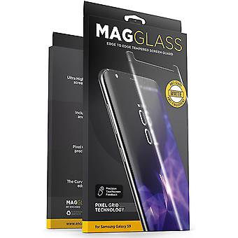 ENCASED Samsung Galaxy S9 Matte Screen Protector - Curved Fingerprint free Tempered Glass (MagGlass
