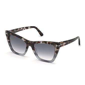 Tom Ford Poppy-02 TF846 55B Farbige Havana/Smoke Gradient Sonnenbrille