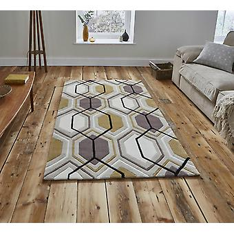 HK 7526 Beige Yellow  Rectangle Rugs Modern Rugs
