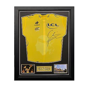Chris Froome firmó el maillot amarillo del Tour de Francia 2013. Marco estándar