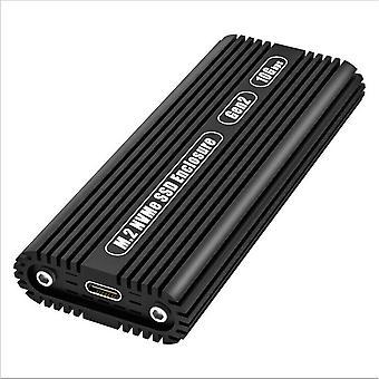 M2 SSD Gehäuse NVME Gehäuse M.2 auf USB Typ C 3.1 SSD Adapter für NVME PCIE NGFF SATA M/B Key SSD
