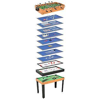 15-i-1 multi-game bord 121x61x82 cm ahorn