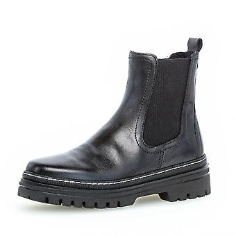 Gabor Gazania Leather Chelsea Boots In Black
