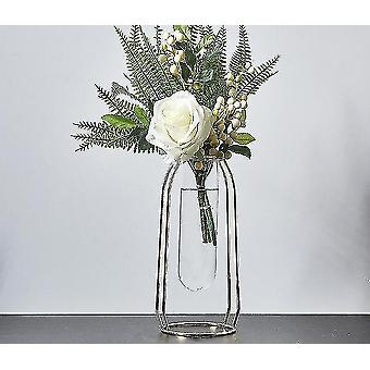 Vases nordic style gold plated eco friendly metal decor vases with flowers golden height 24cm15