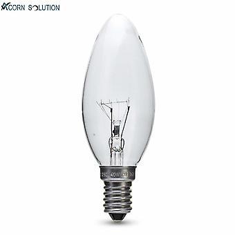 Flood spot lights acorn 10 pack 25w 240v clear candle small edison screw cap e14
