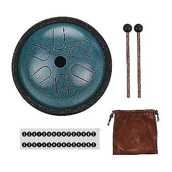 Drum kits 5.5 Inch mini steel tongue drum 6 notes handpan drum steel pocket drum percussion instrument with