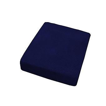 2 Sitzer Sofa Sitz Pad Abdeckung Couch Sofa Kissen Bezüge Protektor (Dunkelblau)