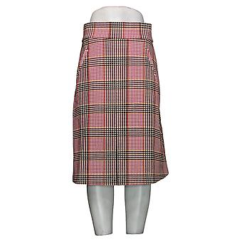 IMAN Global Chic Skirt Inverted Pleat A-Line Purple 711263