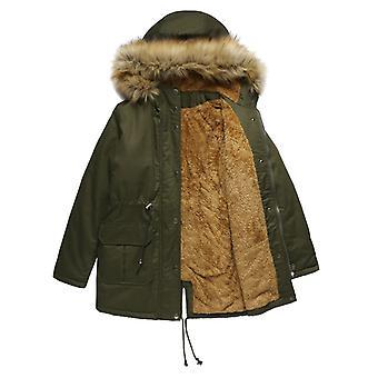 Női téli kabát kapucnis meleg puffer steppelt thicken Parka kabát