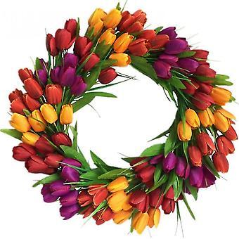 Keinotekoinen seppele kukka garland tervetuliais oven seppele