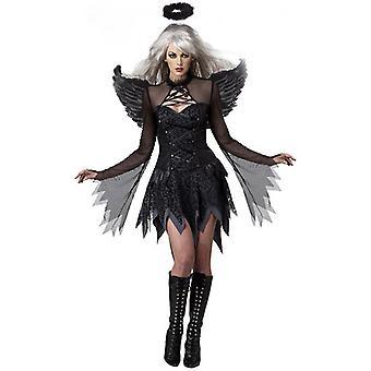 Venalisa Halloween Game Sexy Uniforme Dark Evil Angel Costume Ghost Bride