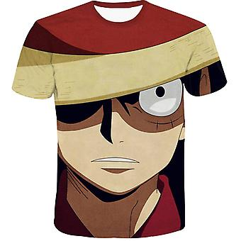 Anime One Piece Trend 3d moda camiseta de manga corta