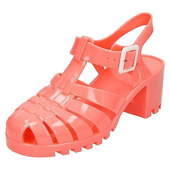 Kære plet på midten af Chunky hæl Jelly sandaler F9683