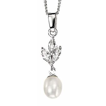 925 Silver Pearl Necklace for Zirconium