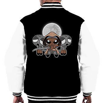 Shuffle And Slice Michonne Walking Dead Men's Varsity Jacket