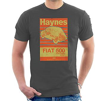 Haynes Workshop Manual Fiat 500 479cc Blue Distressed Stripe Men's T-Shirt