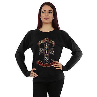 Guns N Roses Women's Appetite for Destuction Distressed Sweatshirt