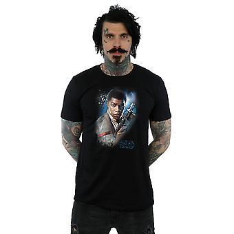 L'ultimo Jedi Finn Star Wars maschile spazzolato t-shirt