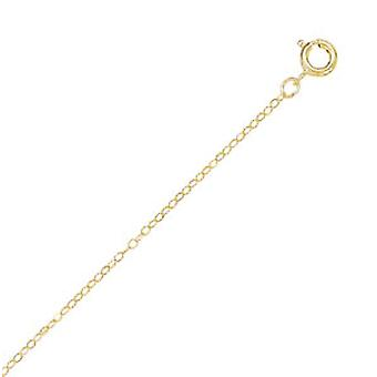 925 Sterling Silver 14/20 Gold Filled Cable Chain Necklace .5mm Wide With Spring Ring Closure Jewelry Gifts for Women -