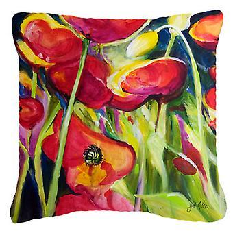 Carolines Treasures  JMK1269PW1818 Poppies Canvas Fabric Decorative Pillow