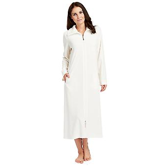 Féraud 3883036-10044 Women's Champagne White Cotton Robe Loungewear Bath Dressing Gown