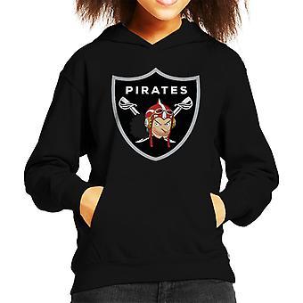 Yksi pala Usopp Raiders Logo lapsi hupullinen pusero