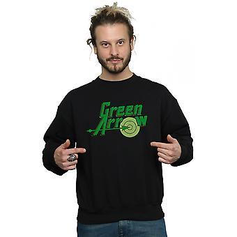 DC كاريكاتير الرجال & apos;ق السهم الأخضر نص شعار قميص