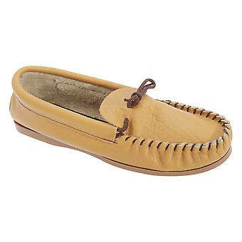Mokkers Mens Gordon Softie Leather Moccasin Slippers