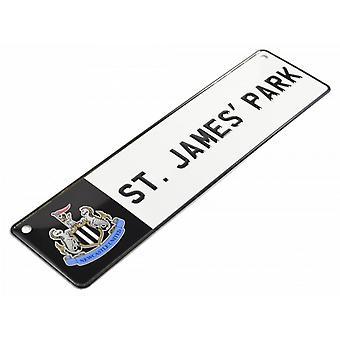 Newcastle United FC Metal Window Street Sign