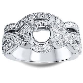 7/8ct Diamond Engagement Wedding Ring Set Setting 14K