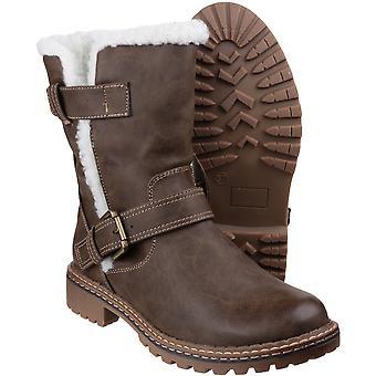 Divaz Womens/Ladies fourrure Nardo garniture hiver neige bottes