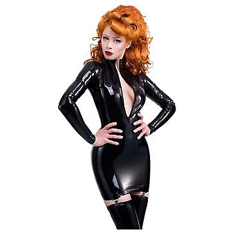 Westward Bound Femoiselle Suspender Latex Rubber Dress, Black