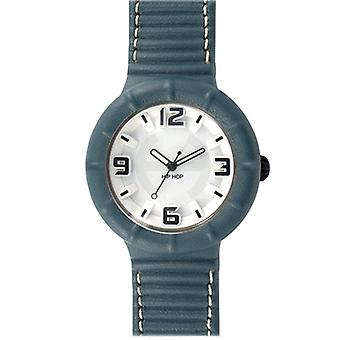 Hip Hop clock silicone leather large HWU0210 blue Pacifico