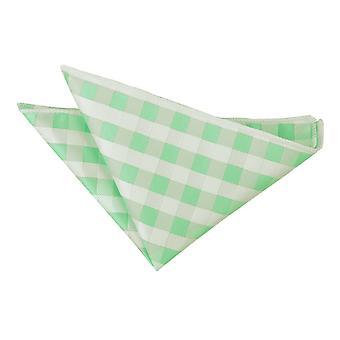 Mint groen pastel Check zak plein