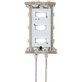 Sygonix LED (monochrome) EEC A (A++ - E) G4 Pen 0.8 W = 5 W Cool white (Ø x L) 13 mm x 33 mm 1 pc(s)