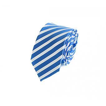 Schlips Krawatte Krawatten Binder 6cm blau weiß gestreift Fabio Farini