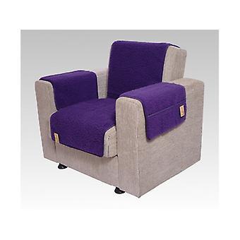 Armleuningen- en leunstoel saver set met 2 zakken MALI kleur: paarse wol