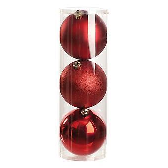 Christmas Shop Shiny/Matt/Glitter Baubles (Set Of 3)
