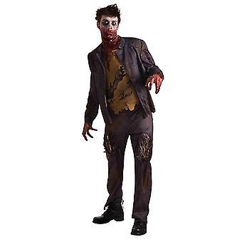 Zombie Shawn Halloween horror kostyme menn