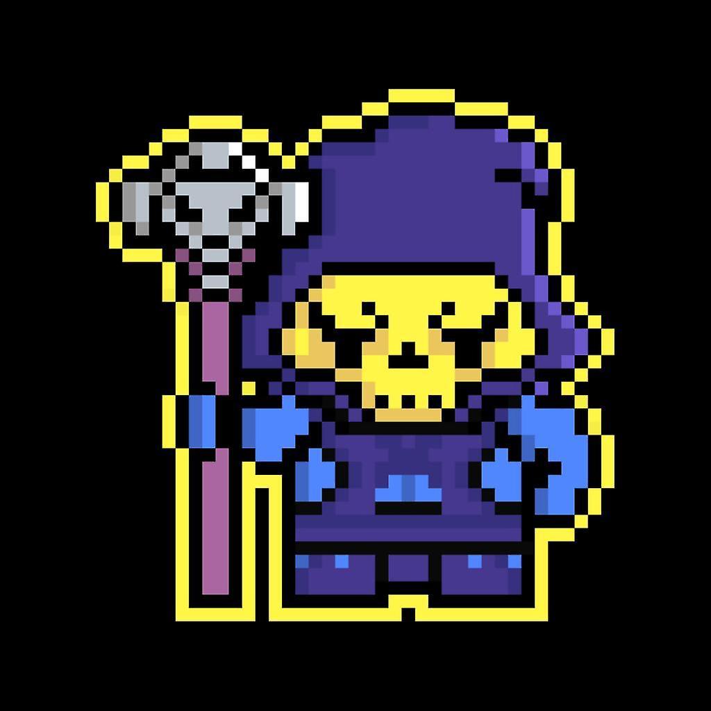 Gilet de pixel Skeletor féminin