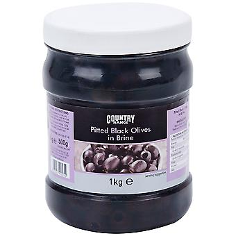 Country Range Pitted Black Olives in Brine