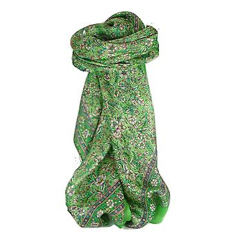 Mulberry foulard carré de soie traditionnel Eyer Emerald de Pashmina & soie