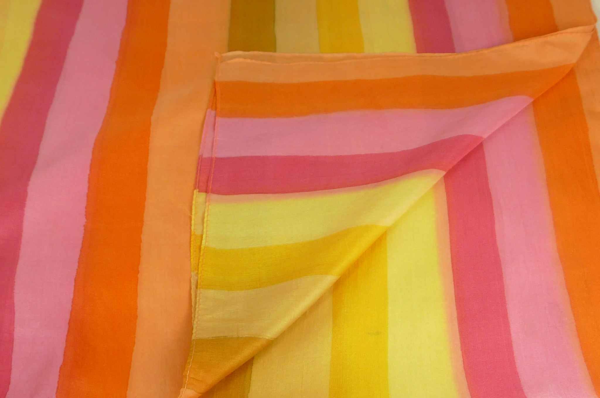 Mulberry Silk Classic Long Scarf Kar Rainbow Palette by Pashmina & Silk