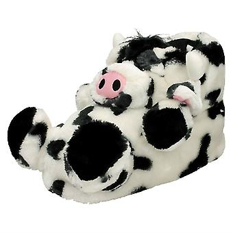 Childs Novelty 3D Cow Slippers
