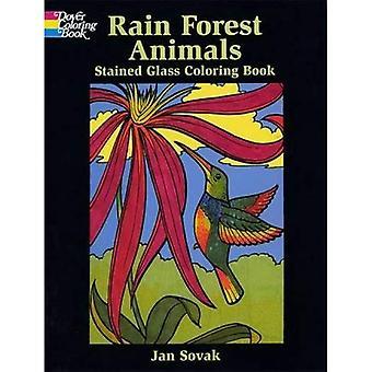 Animaux de la forêt de pluie vitrail Coloring Book