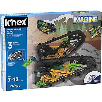 K'Nex 13127 Imagine, 4WD Crusher Tank 7+, 249 Pieces