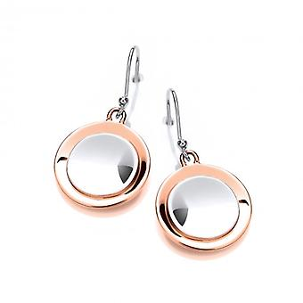 Cavendish French Sterling Silver and Copper Satellite Drop Earrings